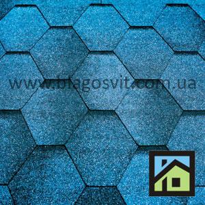 Битумная черепица Тегола линия Супер Мозаика синяя ночь