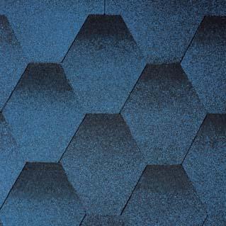 Битумная черепица NORDLAND Нордик синий с отливом