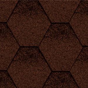 Битумная черепица Kerabit Тройка К коричнево-черный