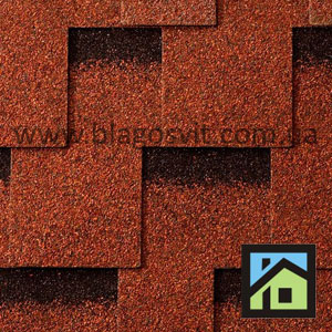 Битумная черепица Icopal Plano Claro Brick Red