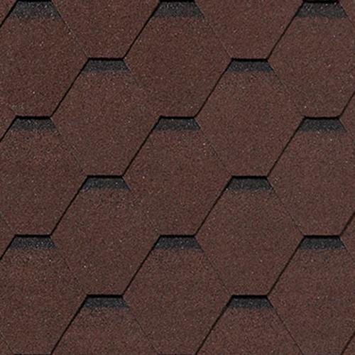 Бітумна черепиця RoofShield Family Light Стандарт коричневий з відтінком