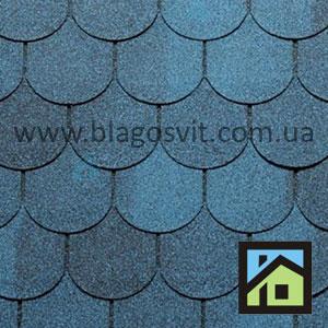 Битумная черепица RoofShield Classic Готик синий