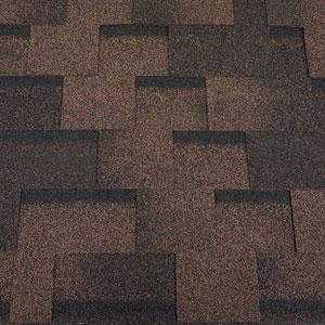 Битумная черепица RoofShield Family ECO Light Модерн коричневый с оттенением 49