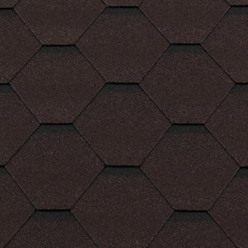 Битумная черепица RoofShield Premium Стандарт коричневый с оттенением
