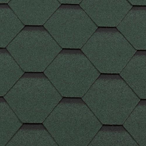 Битумная черепица RoofShield Premium Стандарт зеленый с оттенением