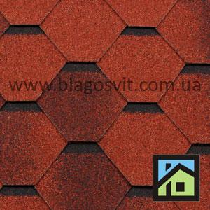 Битумная черепица RoofShield Classic Стандарт кирпично-красный антик