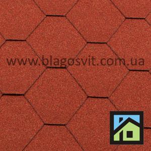 Битумная черепица RoofShield Classic Стандарт кирпично-красный