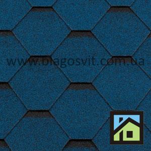 Битумная черепица RoofShield Classic Стандарт синий