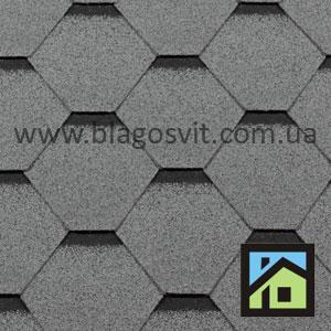 Битумная черепица RoofShield Classic Стандарт серый
