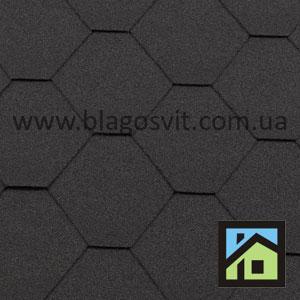 Битумная черепица RoofShield Classic Стандарт графитно-черный
