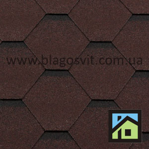 Битумная черепица RoofShield Family Light Стандарт коричневый с оттенением