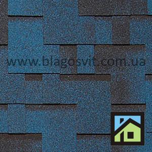 Битумная черепица RoofShield Classic Модерн синий