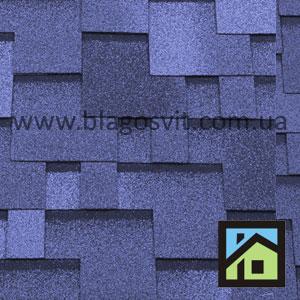 Битумная черепица RoofShield Classic Premium Модерн голубой