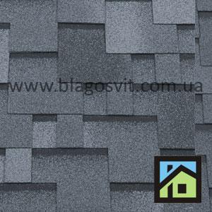 Битумная черепица RoofShield Elite Модерн серый с оттенением