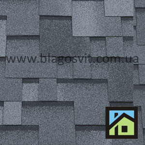 Битумная черепица RoofShield Classic Модерн серый с оттенением