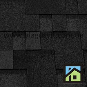 Битумная черепица RoofShield Classic Модерн бархатно-черный