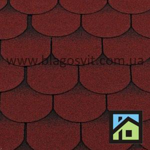 Битумная черепица RoofShield Elite Готик красный