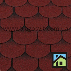 Битумная черепица RoofShield Готик красный