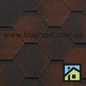 Битумная черепица RoofShield Classic Стандарт коричневый антик