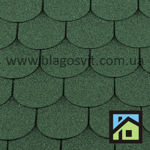 Битумная черепица RoofShield Family Light Готик зеленый