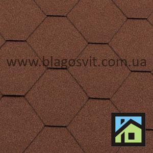 Битумная черепица RoofShield Classic Стандарт коричневый