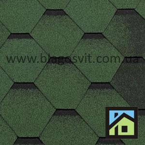 Битумная черепица RoofShield Classic Стандарт зеленый антик