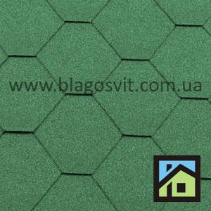 Битумная черепица RoofShield Classic Стандарт зеленый