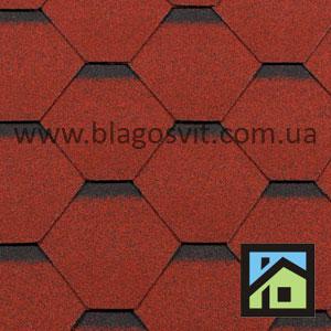 Битумная черепица RoofShield Elite Стандарт красный с оттенением