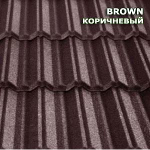 Композитная черепица Metrotile MetroClassic коричневый