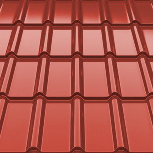 Металлочерепица Decorrey Ruukki 30 matt RR 29 красный