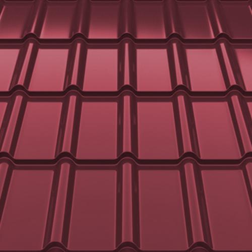Металлочерепица Decorrey Ruukki 30 matt RR 798 красное вино