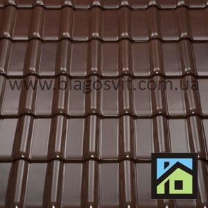 Braas Рубін 13 V темно-коричневий