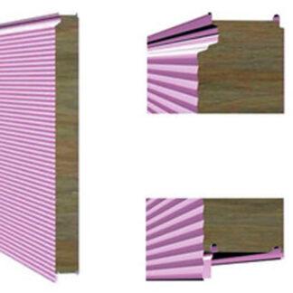 Стеновая сэндвич-панель с закрытым типом замка