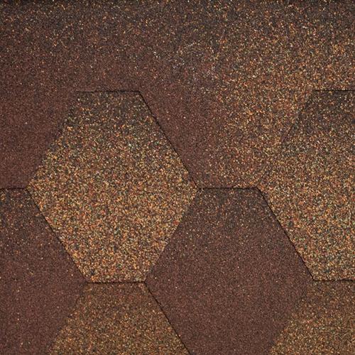 Битумная черепица Aquaizol Мозаика Коричневая микс