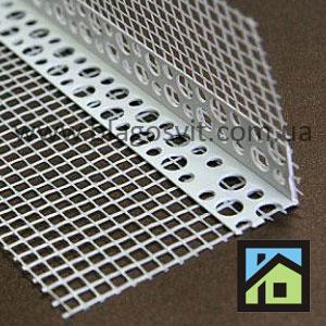 Угол армирующий пластиковый перфорированный с сеткой