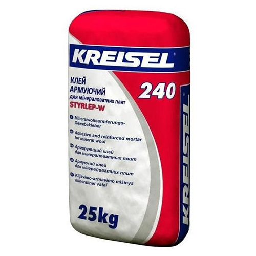 Армуючий клей для плитної минеральної вати Kreisel 240