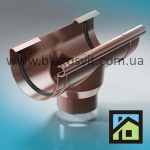 ПВХ водосточная система ProAqua 125/90 воронка ProAqua 150/110 воронка