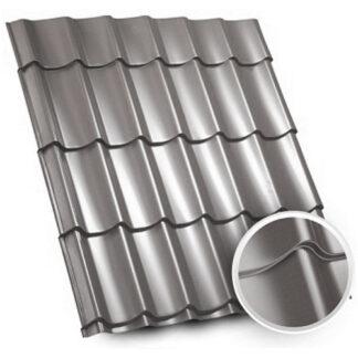 Металочерепиця Zartmet Topaz (Optima Steel - Китай) 0.45 мм, РЕ 7024 сірий