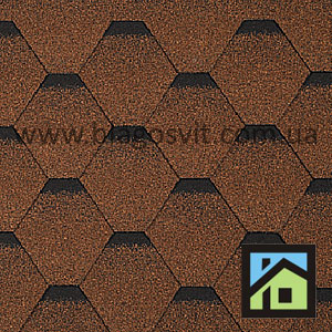 Битумная черепица Owens Corning OAK EURO 25 AR Autumn Brown