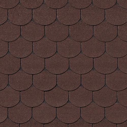 Битумная черепица RoofShield Family Light Готик коричневый с оттенением