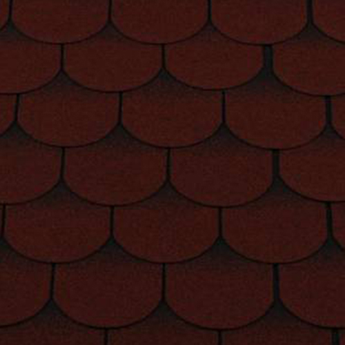 Битумная черепица RoofShield Family ECO Light Готик красный с оттенением