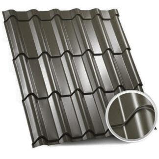 Металочерепиця Zartmet Jaspis (ArcelorMittal - Німеччина) 0.5 мм, РЕМА 7016 темно-сірий